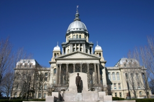 The Illinois Funeral Directors Association has lost the trust of it's members, the public and now the State Government. Greed and betrayal is the cause says the Illinois Comptroller. Illinois State Capitol Pictured.