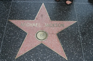 Michael Jacksons star on the Hall of Fame