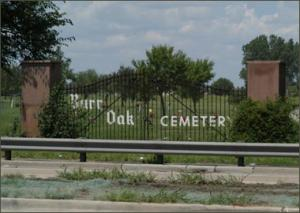Burr Oak Cemetery where up to 300 graves were desecrated and 4 arrested