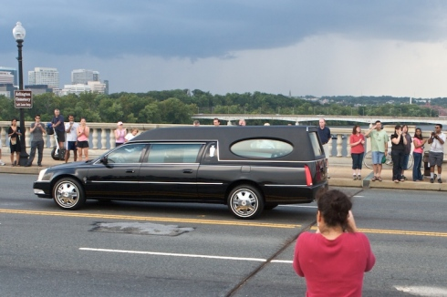 There is alink here to video of the Ted Kennedy Burial