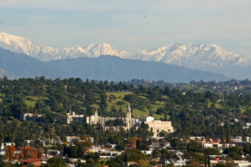 Aerial Photo of Forest Lawn Glendale, Site of the Michael Jackson Burial