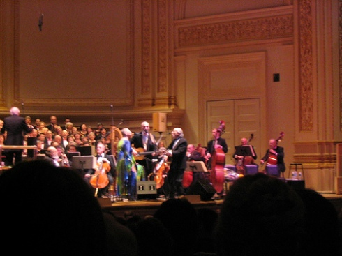 Mary Travers in concert as Peter Paul and Mary at Carnegie Hall after the cancer announcement.