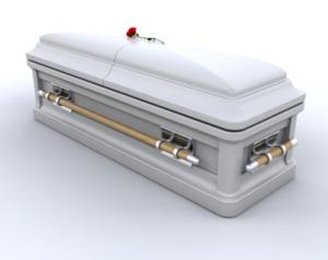 3d image of a casket
